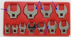 11 Piece Snap On Crowfoot Wrench Set 3 8 1 120