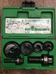 Greenlee Slug Buster 7235bb Knockout Punch Set 1 2 1 1 4 No Chipped Punches