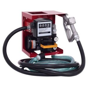 110v Electric Diesel Oil Fuel Transfer Pump With Meter 13 Manual Nozzle Hose