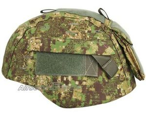 Emerson Tactical Helmet Cover with Pouch for MICH 2000 ACH Helmet Greenzone Camo