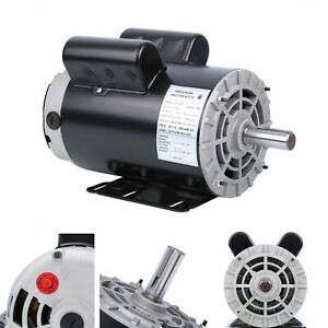 5 Hp 3450 Rpm Electric Motor Compressor Duty 56 Frame 1 Phase 7 8 Shaft 230v