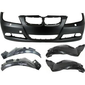 Bumper Cover Kit For 2007 2008 Bmw 328i Front With Fender Liner