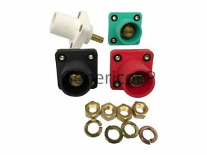 Camlok Panel Mount Male Set 4 Green White Black Red Cls40mrsb abce Threaded