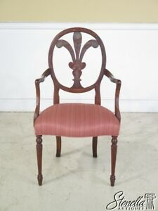 29104e Hickory Chair Co Paint Decorated Adam Style Arm Chair