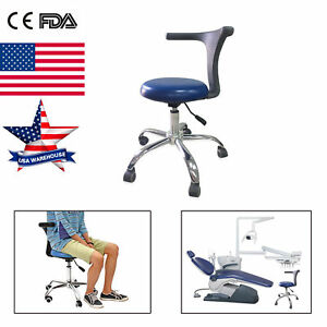 Dental Assistant Stools Mobile Chair Pu Leather Adjustable Soft Dentist