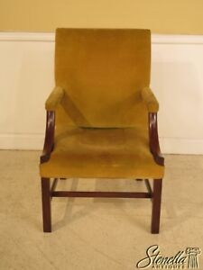 41249 Kittinger Chippendale Colonial Williamsburg Mahogany Library Chair