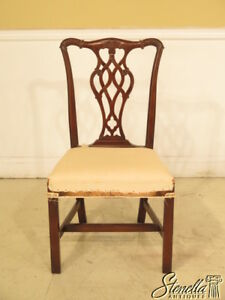 23654c Beacon Hill Chippendale Mahogany Side Chair