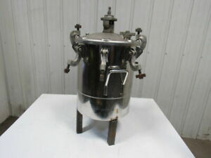 5 Gallon Stainless Steel Pressure Pot Feed Spray Tank W agitator 110psi