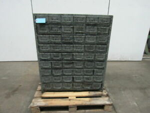 54 Drawer All Metal Tooling Small Parts Storage Cabinet 43 1 2 tx36 1 2 wx12 d