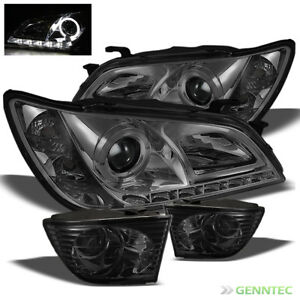 For 01 05 Lexus Is300 Drl Led Hid Smoke Halo Led Projector Headlights Fog Light