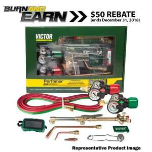 Victor 0384 2125 Performer 540 510 Edge 2 0 Acetylene Cutting Torch Outfit