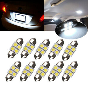White 31mm 4smd Festoon Led Interior Dome Map License Light Bulb De3175 3022 99