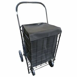 Upt Extra large Heavy duty Folding Jumbo Size Shopping Laundry Storage Cart With