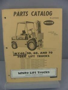 White My40 My50 My60 My70 Forklift Parts Manual S 2156d