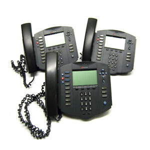 lot Of 3 Polycom 2201 11501 001 Soundpoint Ip 501 Sip Volp Phones W Stand