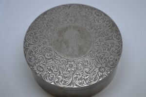Vintage Sterling Silver Shreve Crump Low Co Vanity Box Beautiful Engraved
