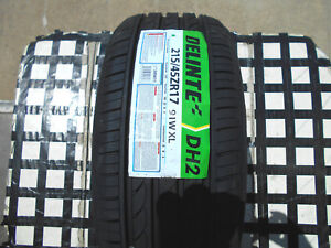 4 New Tires 215 45 17 Delinte Dh2 All season M s 215 45zr17 50k Rated 91wxl