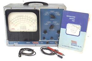 Vintage Eico electronic Instrument Company Model 214 voltage Ohm Meter As Is