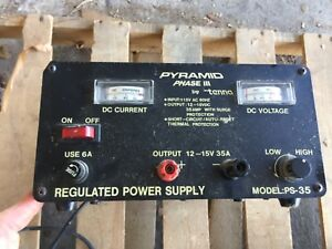 Pyramid Phase Iii Bench Power Supply 35 Amp Ac to dc Power Converter Ps 35