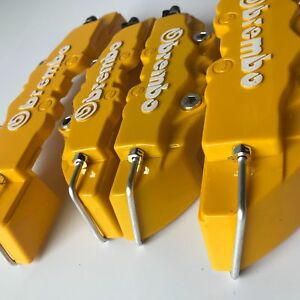 Universal Yellow Brake Caliper Covers 9 F 7 R Set For Honda Ep Ek Ap1 Ap2