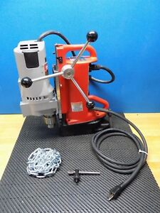 Milwaukee Magnetic Base Drill Press 3 4 Chuck 11 Travel 120v 4206 1 Defective
