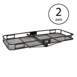 Pro Series Rambler 2 Inch Trailer Mounted Hitch Cargo Carrier Basket 2 Pack