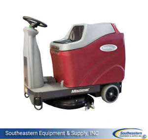 New Minuteman Max Ride 26 Disc Brush Automatic Scrubber Sport Agm Batteries