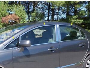 Fits 2006 2011 Honda Civic 4dr Wp26215 Window Accent Package