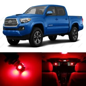 11 X Ultra Red Led Interior Lights Package For 2016 2019 Toyota Tacoma Tool