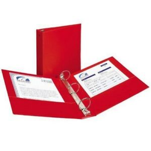New Avery 1 2 Red Economy Round Ring Binders 12pk Free Shipping