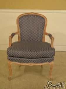 29010 French Louis Xv Style Fauteuil Open Arm Chair W New Upholstery