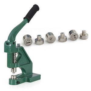 Grommet Machine 3 Die 0 2 4 Eyelet Hand Press Tool Green