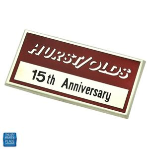 1983 Cutlass Hurst Olds Dash Emblem 15th Anniversary Adhesive Backing