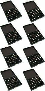 8 Ring Black Wide Tray Cases W 36 Slots
