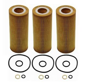 Set Of 3 Engine Oil Filters Op Parts 11506016 For Bmw E70 E90 335d X5 Xdrive35d