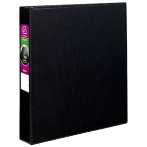 New Avery 1 1 2 Black Durable Slant Ring Binders 12pk 27350 Free Shipping