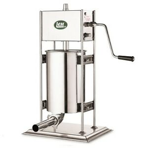 Lem Products 25 Lb Dual Gear Ss Vertical Sausage Stuffer 1111
