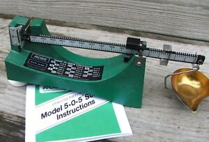 RCBS 505 PowderBullet Scale reloadingloading 9071 Ohaus metal base magnetic