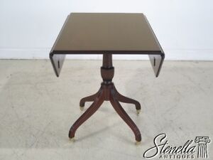 L43778ec Madison Square Drop Leaf Mahogany Dining Or Breakfast Table