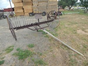 Antique Vintage Farm Equipment Mccormick deering Hay Rake Buck Rake Yard Decor