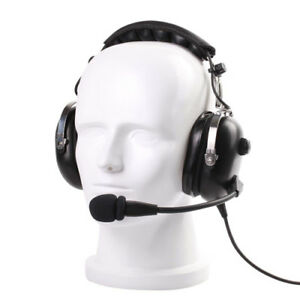 Pnr General Aviation Headset Flexible Boom Black Low Cost For Passenger Use