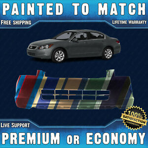 New Painted To Match Front Bumper Cover Fascia For 2008 2010 Honda Accord 4 Door