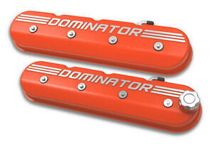 Holley 241 162 Tall Ls Dominator Valve Covers Factory Orange Machined Finish