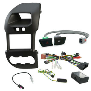 Ford Ranger Double Din Stereo Car Facia Fitting Kit W Door Hazard Buttons