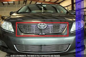 Gtg 2009 2010 Toyota Corolla Le 1pc Polished Upper Overlay Billet Grille Grill