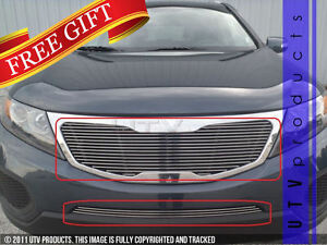 Gtg Polished 2pc Combo Billet Grille Grill Kit Fits 2011 2013 Kia Sorento