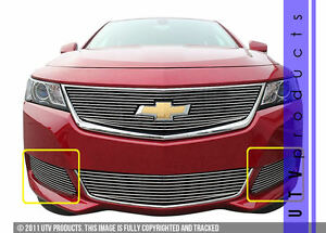 Gtg 2014 2019 Chevy Impala 2pc Polished Custom Billet Grille Grill Accent Kit