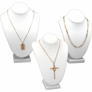 3pc White Necklace Chain Jewelry Display Bust 11