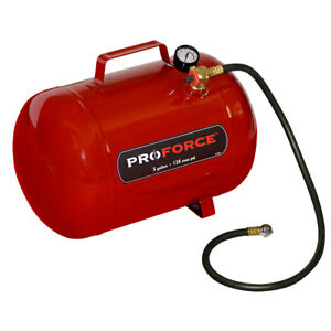 Proforce 5 Gallon Portable Pneumatic Compressed Air Holding Storage Carry Tank