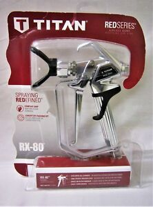 New Sealed Titan Rx 80 Airless Paint Sprayer Gun 0538007 Free Shipping